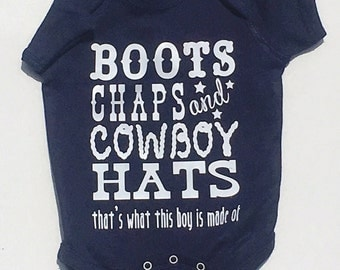 Boots, Chaps, and Cowboy Hats Onesie