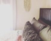 Macrame wall hanging. Woven wall hanging. Yarn wall hanging. Modern boho decor. Nursery decor. Home decor.