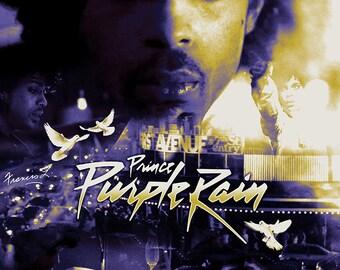 Prince Purple Rain 18 x 24 alternative movie poster