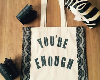 Personalized tote bag to change the world