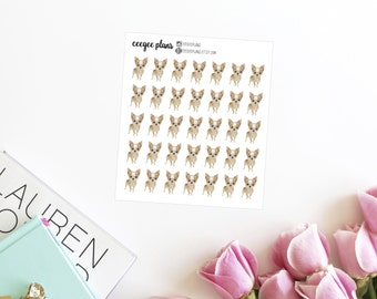 Chihuahua Planner Stickers | 35 Dog Stickers for ANY Planner