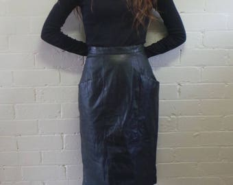 Long Leather Lovers Skirt;