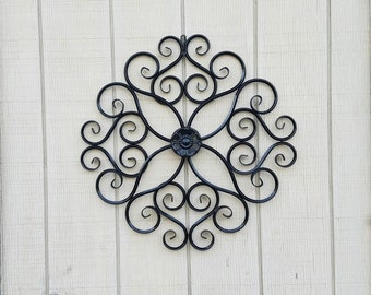Metal Wall Decor / Wrought Iron Wall Art / Metal Wall Art / Large Metal Wall