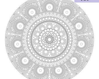 Mandala dots,large scale coloring page,mandala drawing,adult coloring page,mandala print,vector mandala,mandala coloring page