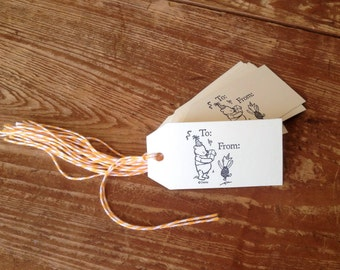 Winnie The Pooh Gift Tags (Set of 10)