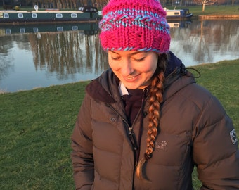 Handmade Wool Beanie With Bobble - The Ainsley