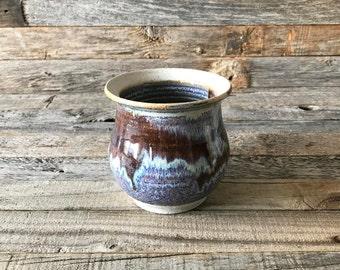 Vintage Drip Glaze Stoneware Studio Pot