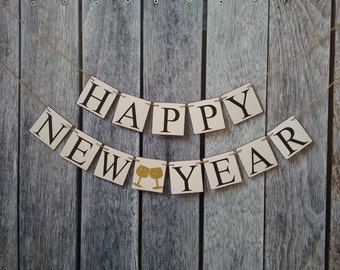 happy new year banner, happy 2018 banner, new years party decoration, new years decorations, happy new years photo prop, 2018 banner, sign