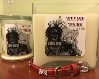Dachshund Inspired Soy Candles