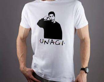 Unagi shirt Friends TV Show shirt Vintage shirt 90s clothing Funny shirt Fan t shirt 90s t shirt Mens t shirt Women shirt Mens shirt 082