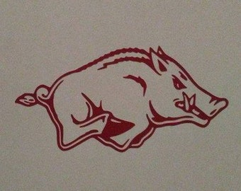 Arkansas Razorback Vinyl Decal #1-022