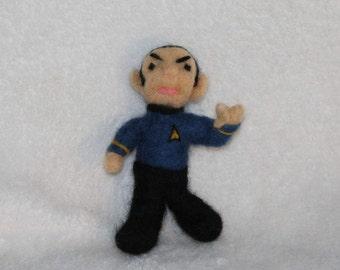 Needle-Felted Wool Spock Figure