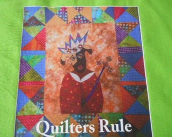 Cotton Tote Bag for Quilters and Dog Lovers alike