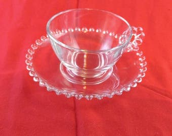 CLEARANCE 8 Candlewick Cups and Saucers Vintage      #11