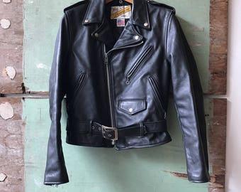 Vintage Size 36 Schott Perfecto Leather Moto Jacket