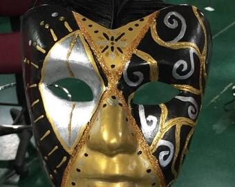 Assorted Hand-painted Paper Mache Venetian Masks