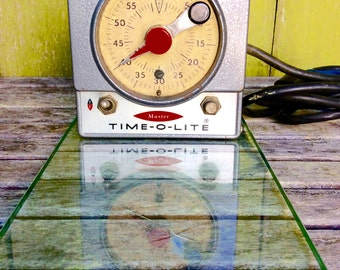 1950 Time-O-Lite M59 60-Second Darkroom Timer by Industrial Timer Corporation, Parsippany, N. J. Made in USA