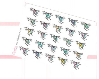 Helicopter Planner Stickers, Travel Planner Stickers, Travel Stickers, Vacation, Holiday, Work, Flight, TRV1