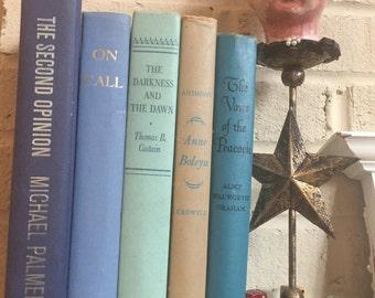 Lot of  Vintage Books Blue Decorating Decor 1955-1961 Nurse Devotional