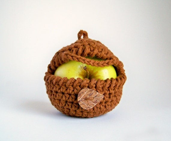 Apple Cozy, Eco Friendly Gifts, Snack Bags, Graduation Gift, Vegan Gift, Teacher Gifts, Cotton Gift, Yoga Gifts, Apple Kitchen Decor, Brown