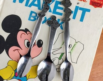 Vintage Baby Flatware / Bonny Walt Disney Stainless Feeding Spoon / Two Available