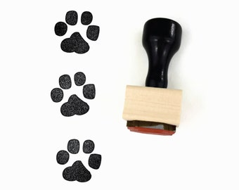 Cat / Dog Paw Print Stamp - Cat Lady, Dog Lady Rubber Stamp by Creatiate
