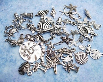 BIG Beach Charm Collection in Silver Tone - C2521