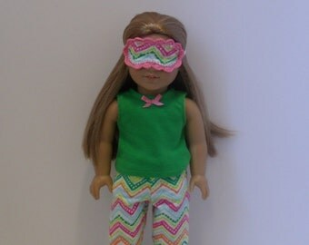 American Girl Doll Pajamas with or without sleep mask