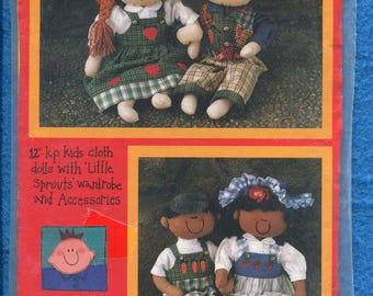KP Kids Sweet Boy & Girl Rag Dolls Pattern Size 12 inch Doll UNCUT