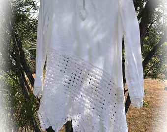 Vanilla Zen Tunic Simply Romantic Rustic Organic Island Wear Size XL