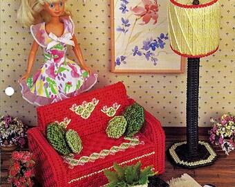Sitting Pretty / Fashion Doll Furniture / Annie's Plastic Canvas Club  FP06-02