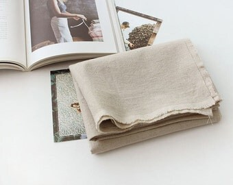 Linen Blend Fabric, Natural Color Linen - Fabric By the Yard 92761