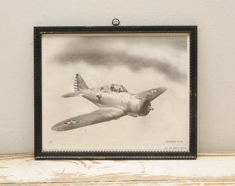 1960s Official US Air Force Print Seversky P-35 Airplane Print Number 23