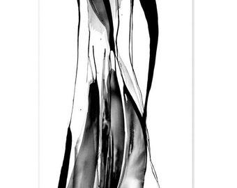 Original ink painting. Abstract  artwork. Minimalist. Expressionist artwork.
