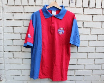 Vintage PHILADELPHIA PHILLIES 1996 All Star Game Polo Shirt Size L Large Majestic tag mlb baseball sports athletic outdoor