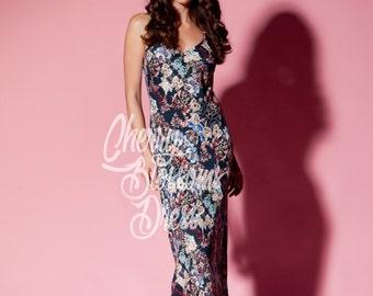 Floral dress/ Maxi Dress/ Long dress/ Spring dress/ Summer Dress/ Slip dress/ Day dress/ Plus size dress/ Plus size clothing