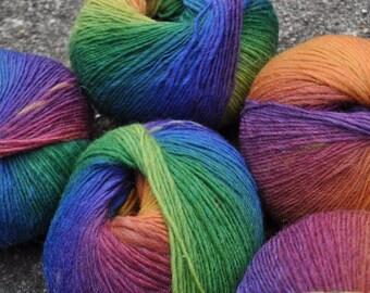 Rainbow Road Yarn // 100% Wool Self Striping Yarn