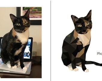 Pet Portrait, pet portrait print, custom pet portrait, Custom cat print, Custom pet poster, Cat poster, Dog poster, Pet poster, Portraits