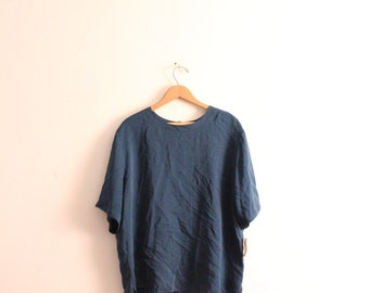 Cerulean Blue Silk Blouse