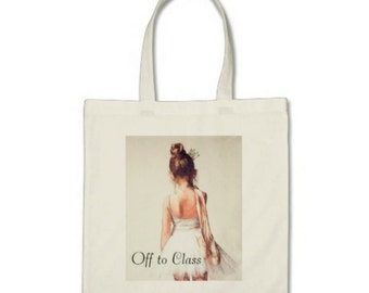 Small Ballet Dance Bag or Tote, Dance Class Tote Bag, Large Ballerina Gift, Dancer Gift, Ballet Bag, Personalized Custom Tote Bag, Xmas Gift