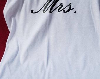 Mrs Tank Top -  Bride Tank Top - Mrs Tank - Mrs - Wedding Tank Top - Wife Tank Top - Bridal Shower Gift -  Bachelorette Party - Bride Gift