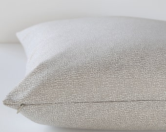 Scalamandre Shagreen Pearl Gray designer pillow cover - 1 SIDED OR 2 SIDED - Made to Order - Choose Your Size