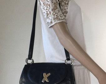Paloma Picasso, Black Leather Purse, Bag, Shoulder Bag