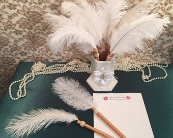 Gold feather pen Etsy