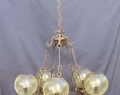 chandeliers vintage electric, wrought iron chandelier 5 bulbs, chandelier for ceilings, chandelier rustic by castle, lamp produced in Italy