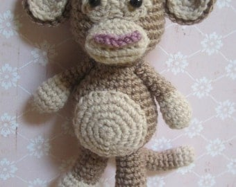 Cute Brown Monkey Amigurumi