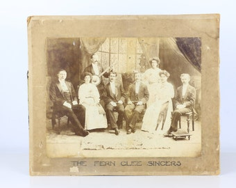 Antique Photograph 'The Fern Glee Singers' band
