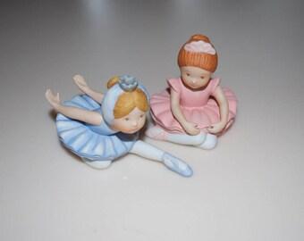 Holly Hobbie Ballerina Figurines Blue & Pink
