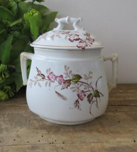 China Kitchen Kalamazoo: Antique Ironstone Sugar Bowl With Lid Royal Ironstone China