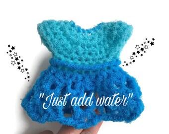 Dress Dish Scrubbie,Soap Pump Cover,3 Color Choices,Crochet Kitchen, Dish Scrubber, Pot Scrubber,Eco Friendly,Housewarming Gift, For Her